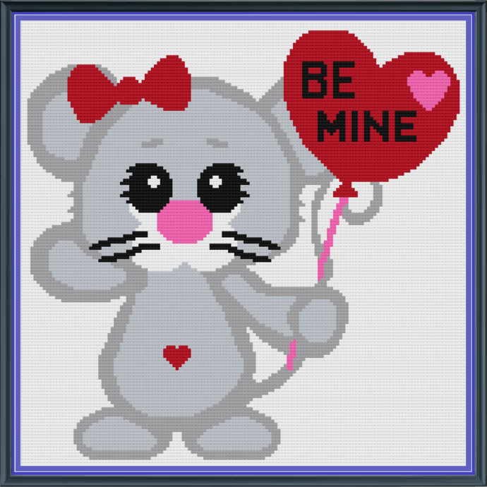 Love Mouse SC 144x144 includes Graph with written color block charts