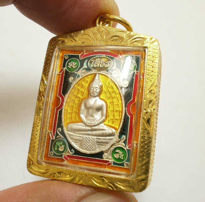 LP Sotorn Buddha pendant blessed bring peaceful life wealth success good luck