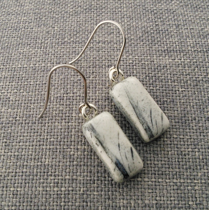 Ceramic Earrings Black Washed