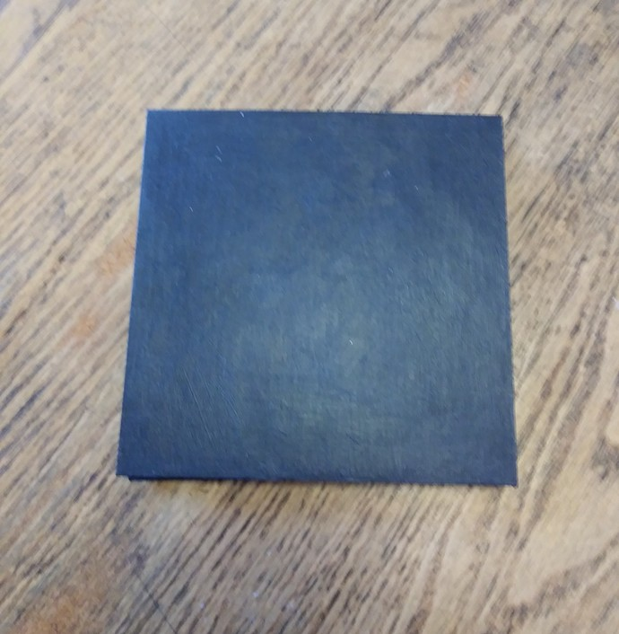 5 x 5 Accordion Book - 3D cover with blue heart and small pink flowers. 10 Blank