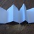 5 x 5 Accordion Book - 3D cover with pink heart and flower. 10 Blank pages