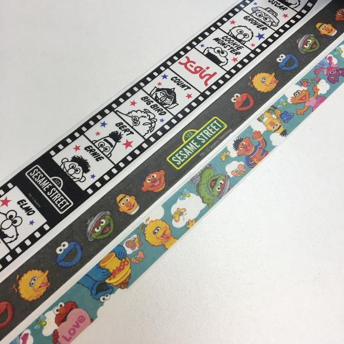 3 Rolls of Limited Edition Paper Tape: Sesame Street