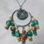 Bright mulit-color, multi-style beads with polymer clay sun and moon design