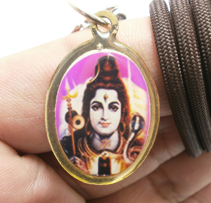 Lord Shiva Mahadev 1980s in India pendant necklace Mahadeva great god Hindu