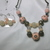 Large light pink decorated beads with base metal beads and acrylic pink, and