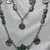 Tree of Life charms with Celtic design beads and green glass beads necklace and