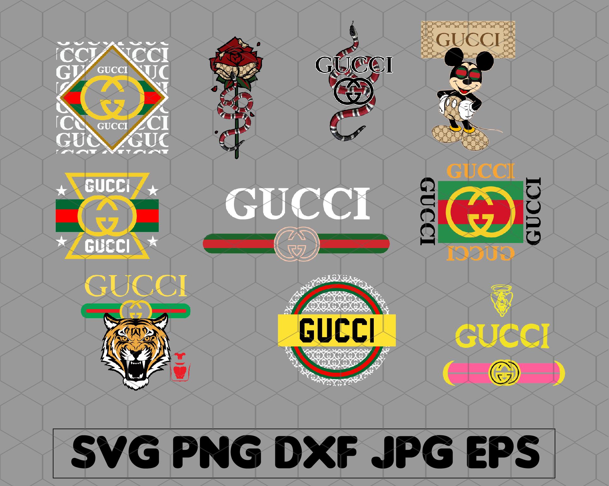 10 Files Gucci Svg Gucci Logo Svg Gucci By Svgbundleshop On Zibbet