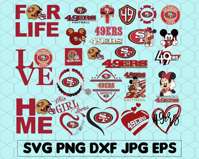 San Francisco 49ers Bundle Svg San By Svgbundleshop On Zibbet