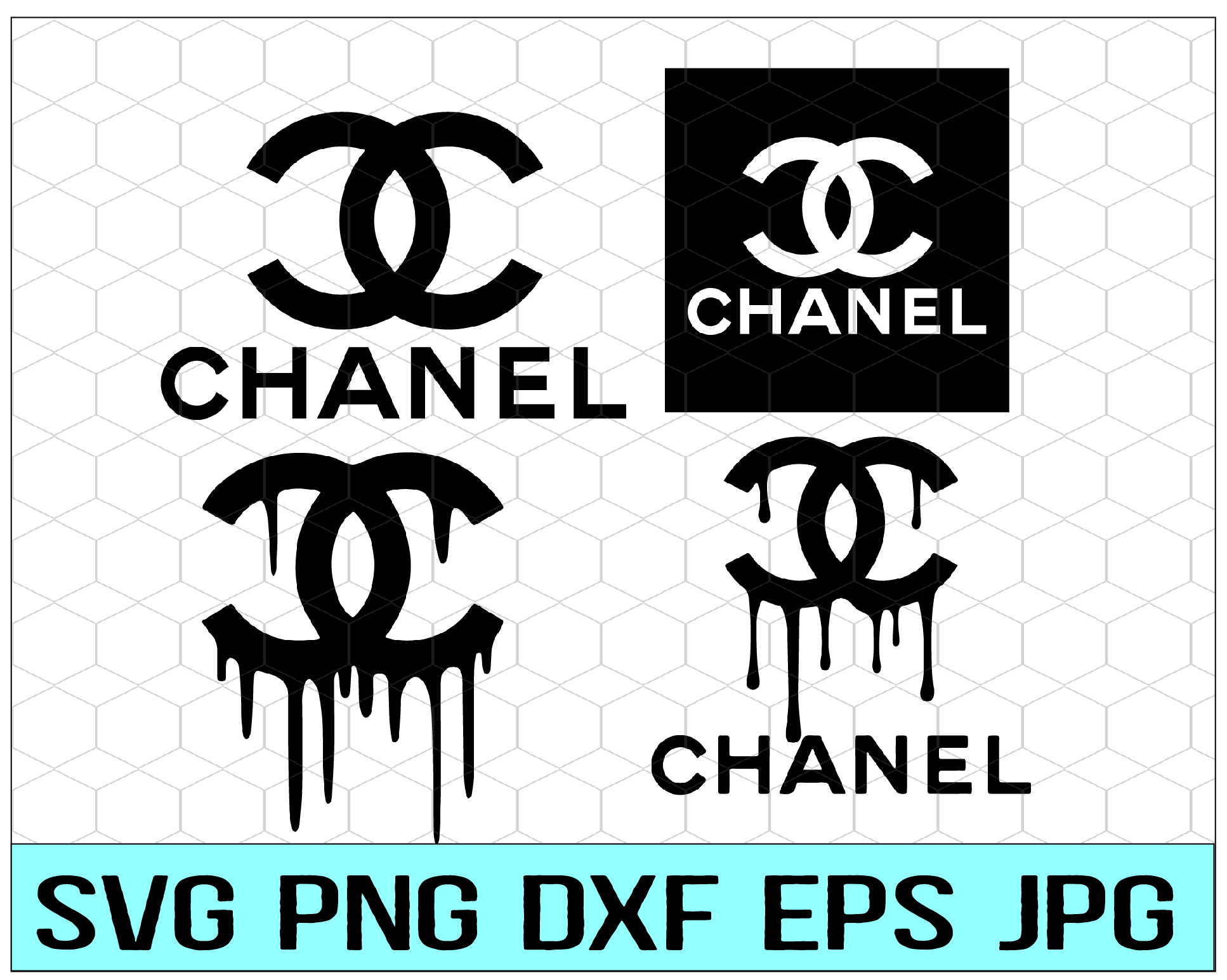 Chanel Svg Chanel Cut Files Logo Chanel By Svgbundleshop On Zibbet