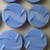 24 Light Blue Vintage Glass Buttons on Original Card Made in Czechoslovakia
