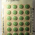 Vintage Green Glass Floral Buttons on 24 Original Card Made in Czechoslovakia
