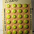 """Vintage Yellow Glass Buttons on Original Card Made in Czechoslovakia 9/16"""""""