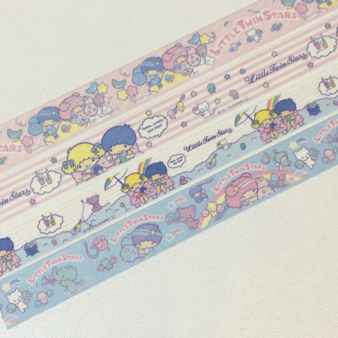 4 Rolls of Japanese Sanrio Characters Washi Tape-  Little Twin Stars