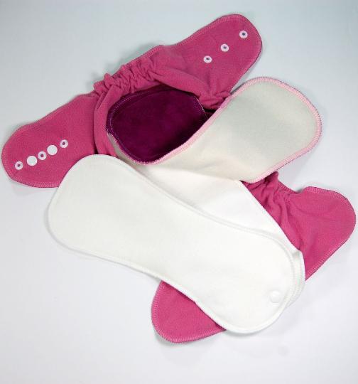 Ready to Ship Medium/Long Cloth Diaper -  Pink Bandana - Hidden-PUL AI2 - M/L