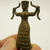 Minoan Snake Goddess figurine mini metal amulet statue bless for Fertility