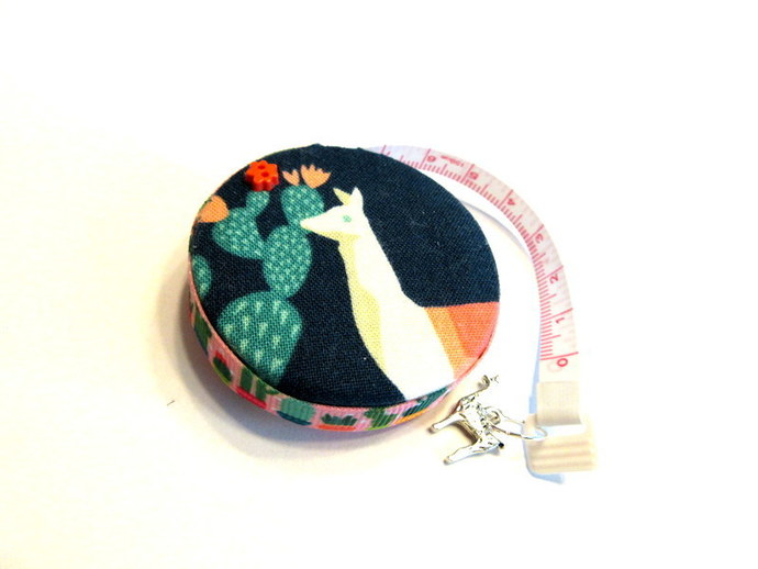 Tape Measure Llamas and Cactus in the Desert Retractable Small Measuring Tape