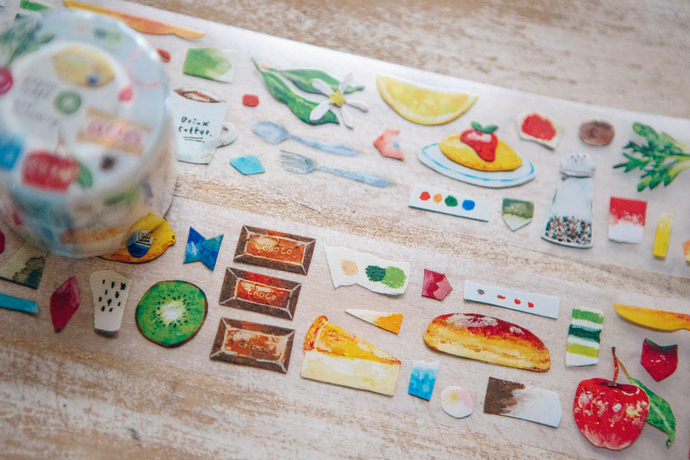OURS Paper Craft - Eat Something washi tape - perfect for journaling & happy