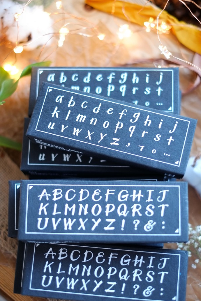 OURS My A to Z - Capitals - DIY Rubber Stamp - perfect for journaling & happy