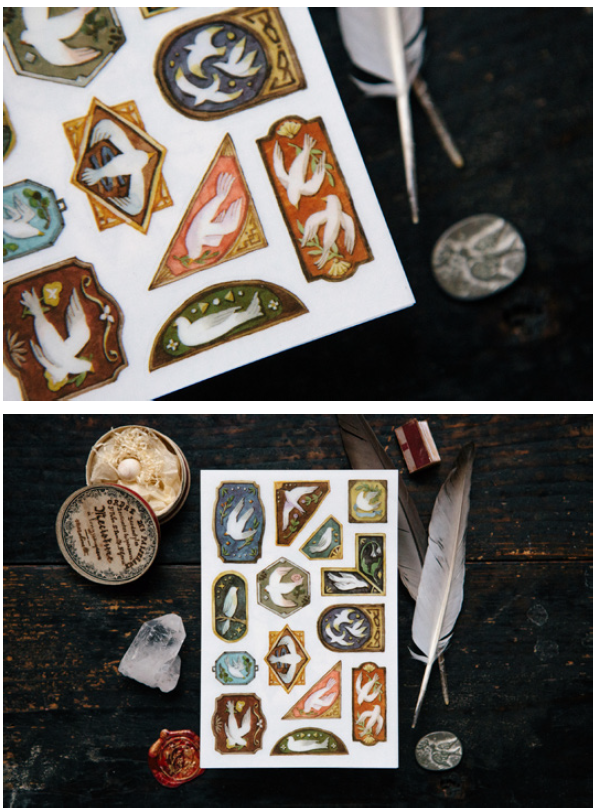 OURS Birds print-on stickers - perfect for journaling & happy mail