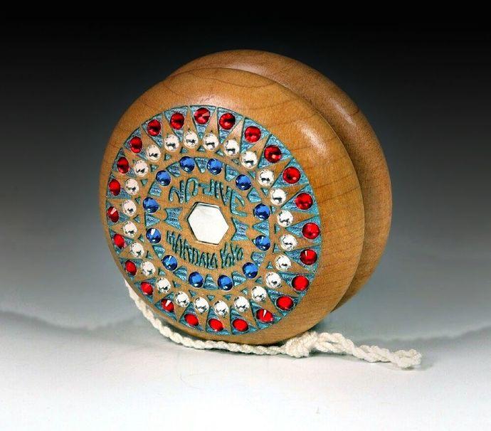 "Vintage Tom Kuhn Jeweled No-Jive ""Sunburst"" Mandala Yo-Yo"