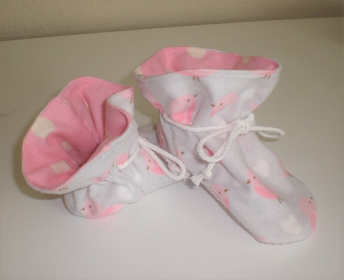 Little Bird baby TV booties/soft sole shoes SIZE LARGE