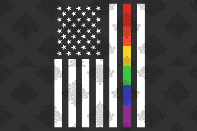 Gay pride rainbow american flag, bisexual svg, american flag svg, lgbt svg,