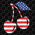 American flag cherry, cherry clipart, cherry print, cherry lover svg,