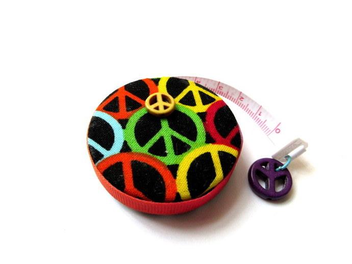 Measuring Tape Peace Symbol Retractable Small Tape Measure