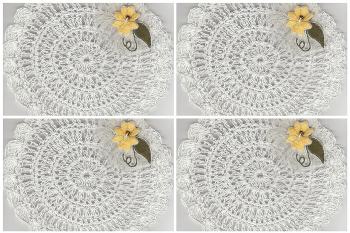 """Vintage Inspired 5.5"""" Round Crochet Drink Mats Doily-Set of 4"""