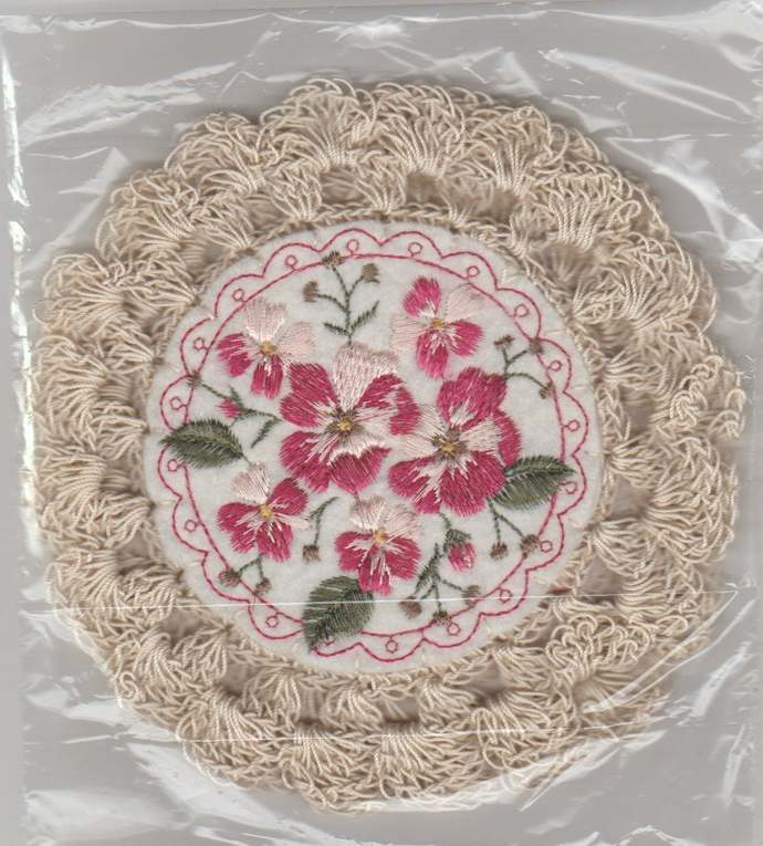 """Vintage Inspired 6"""" Round Crochet Glass Jar Candle Doily-Set of 2"""