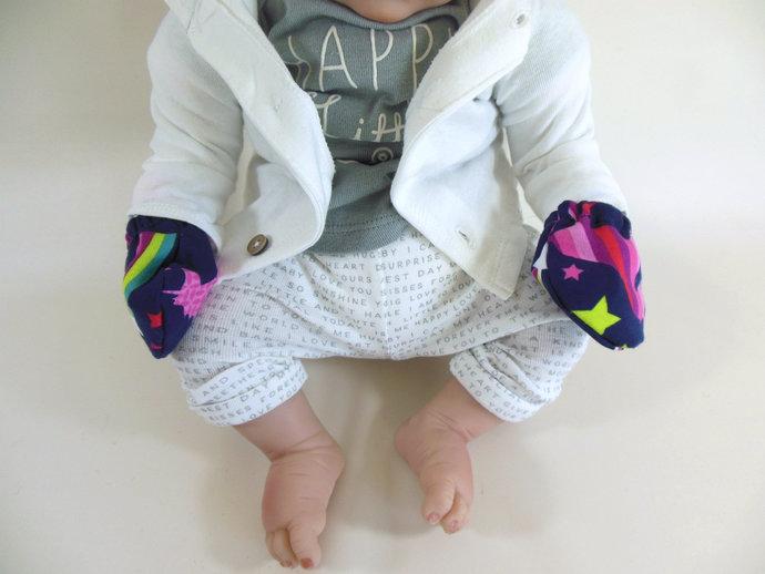 Unicorn Rainbow Swaddle Sack, Unicorn Rainbow Scratch Mittens, Unicorn Rainbow