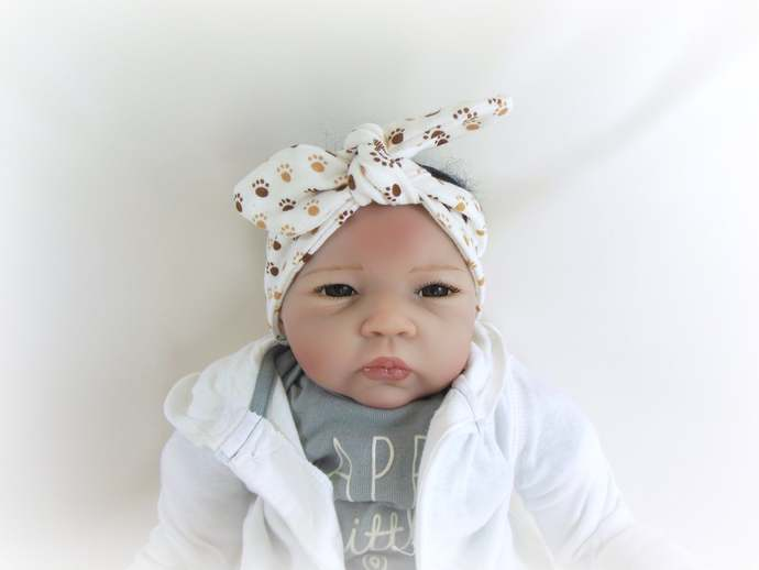 Swaddle Sack, Scratch Mittens, & Tie Knot Headband in Paw Prints