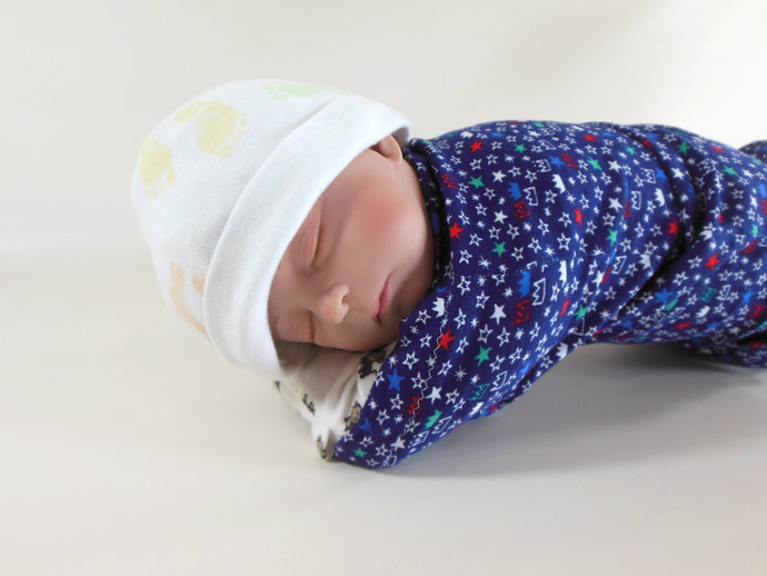 Set of 3 Swaddle Sacks, Sleep Sack, Cocoon, Blanket, Wrap in Prince Crowns,