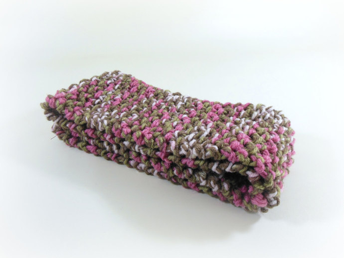 OOAK Double Knit Toddler/Child Scarf in Pink Camo