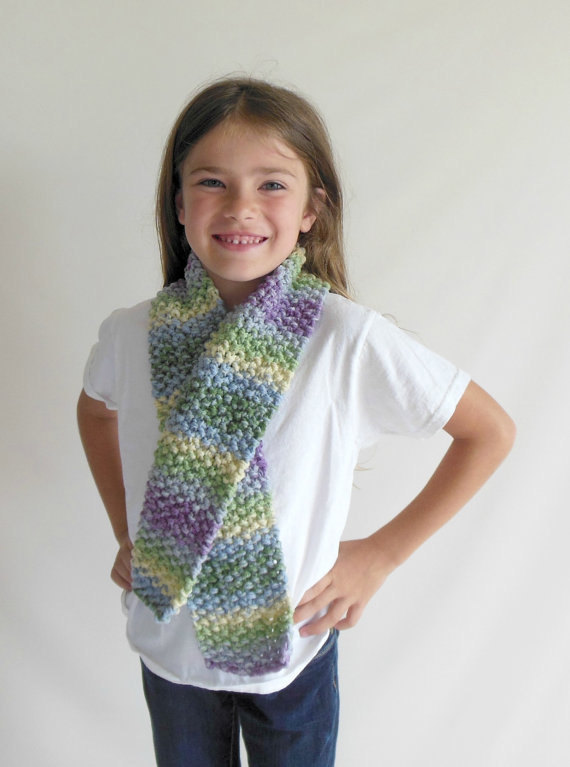 RTS Double Knit Toddler/Child Scarf in Various Color Combinations