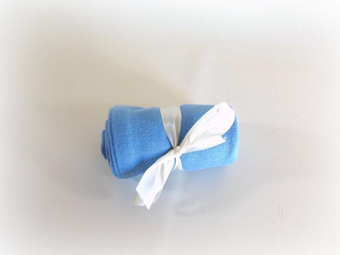 Swaddle Sack, Sleep Sack, Cocoon, Blanket, Wrap in Solid Light Blue