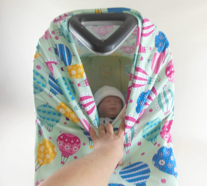 4 in 1 Car Seat Canopy, Nursing Cover, Cart Cover, Car Seat Cover, High Chair