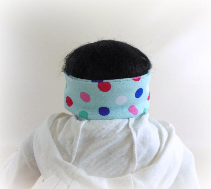 Infant Stretch Ti Knot Headband in Polka Dots