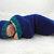 Cocoon, Sleep Sack, Sleep Bag, Blanket, Wrap in Teal & Navy