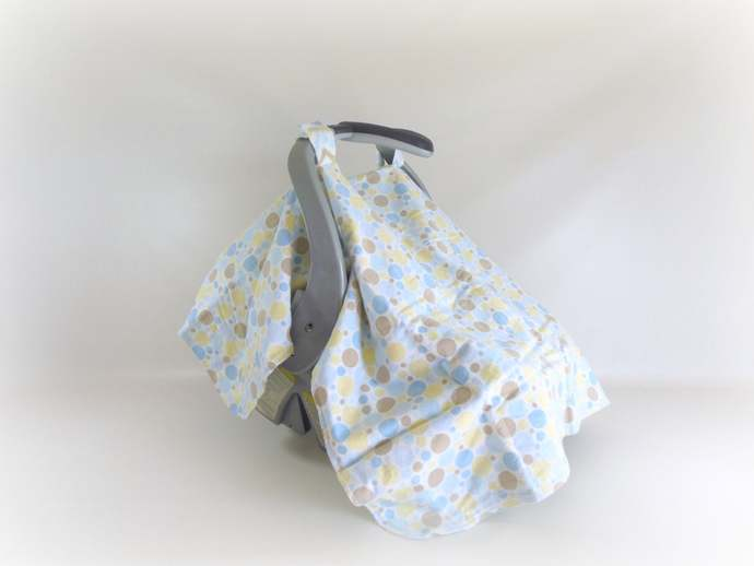 Car Seat Canopy & Cart Cover in Polka Dots and Chevrons