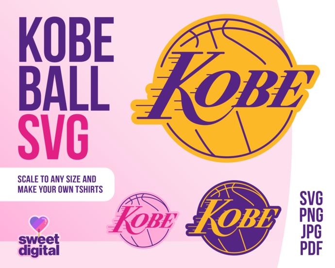 Los Angeles Lakers Kobe Bryant SVG File For Cricut Design Studio T-shirt print