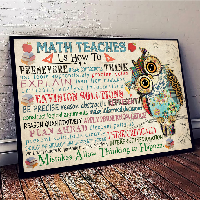 Math Teacher Us How To Persereve Make Classroom Think Typography, Home Decor,