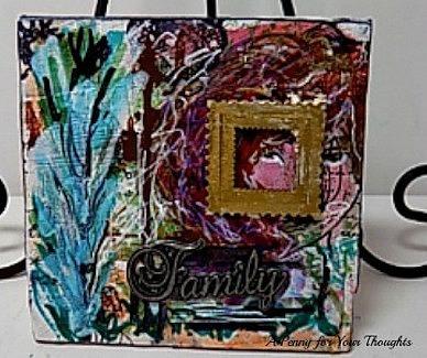 Family Original Mixed Media Canvas Panel. Ready to Ship