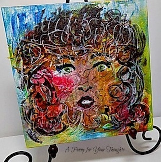 Winsome Mixed Media Canvas Covered Panel. Ready to Ship