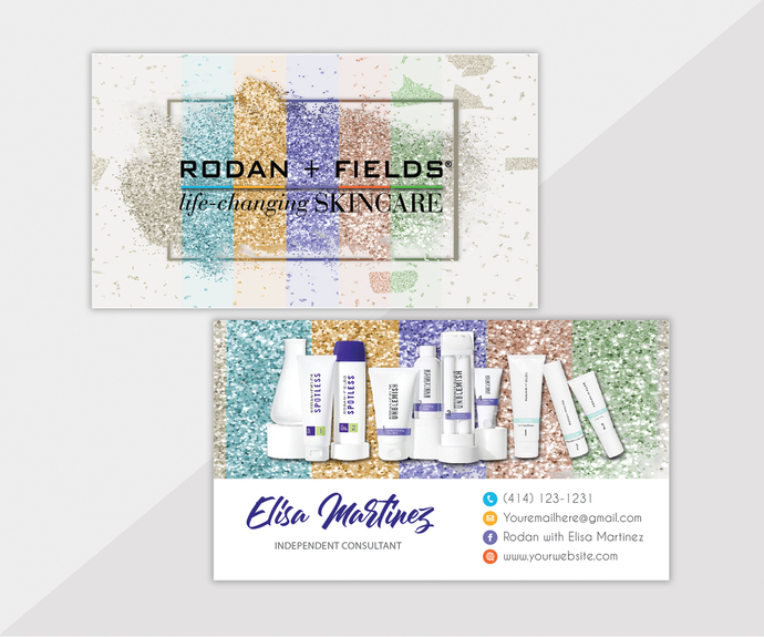 Personalized Rodan and Fields Business Cards, Rodan Fields Business Card,
