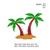 Palm Island Embroidery Design,Palm Island embroidery pattern,palm