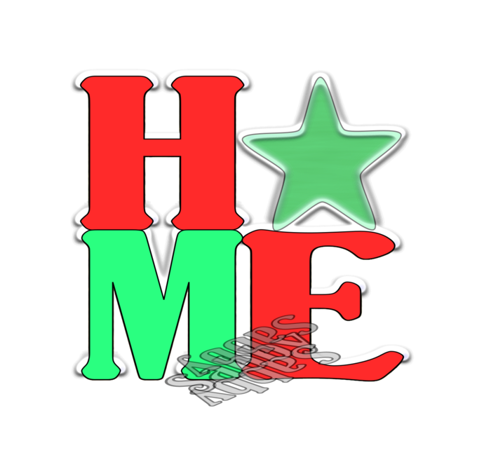 Home Color Word-Digital ClipArt-PNG-Art Clip-Gift