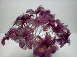 Burgundy fabric Flowers*