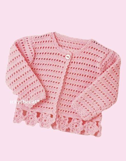 PDF Digital Download Vintage Crochet Pattern Baby Babies Coat/Jacket & Hat