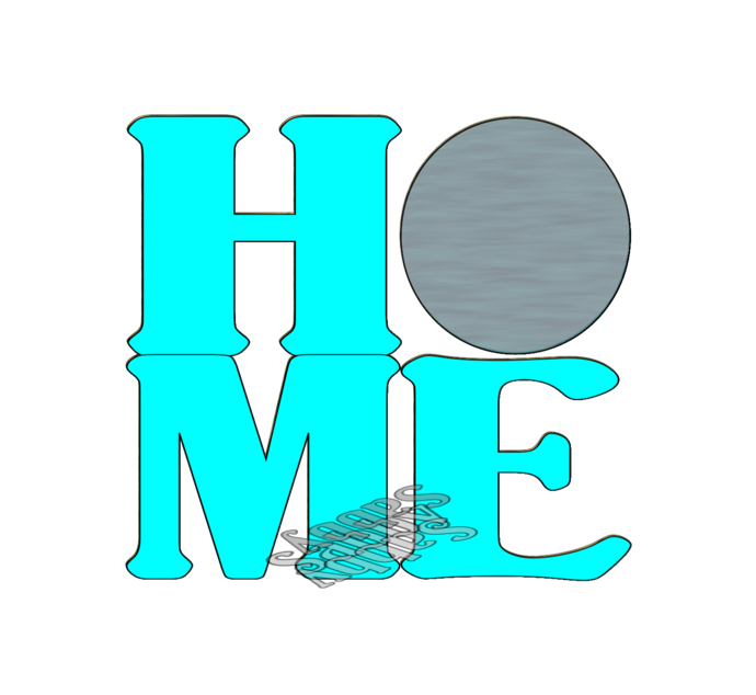 Home Color Word1-Digital ClipArt-Star-Art Clip-Gift